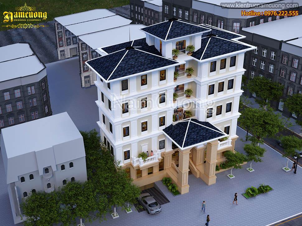 Thiết kế khách sạn 5 tầng kiến trúc tân cổ điển tại Quảng Ninh - KSCD 004