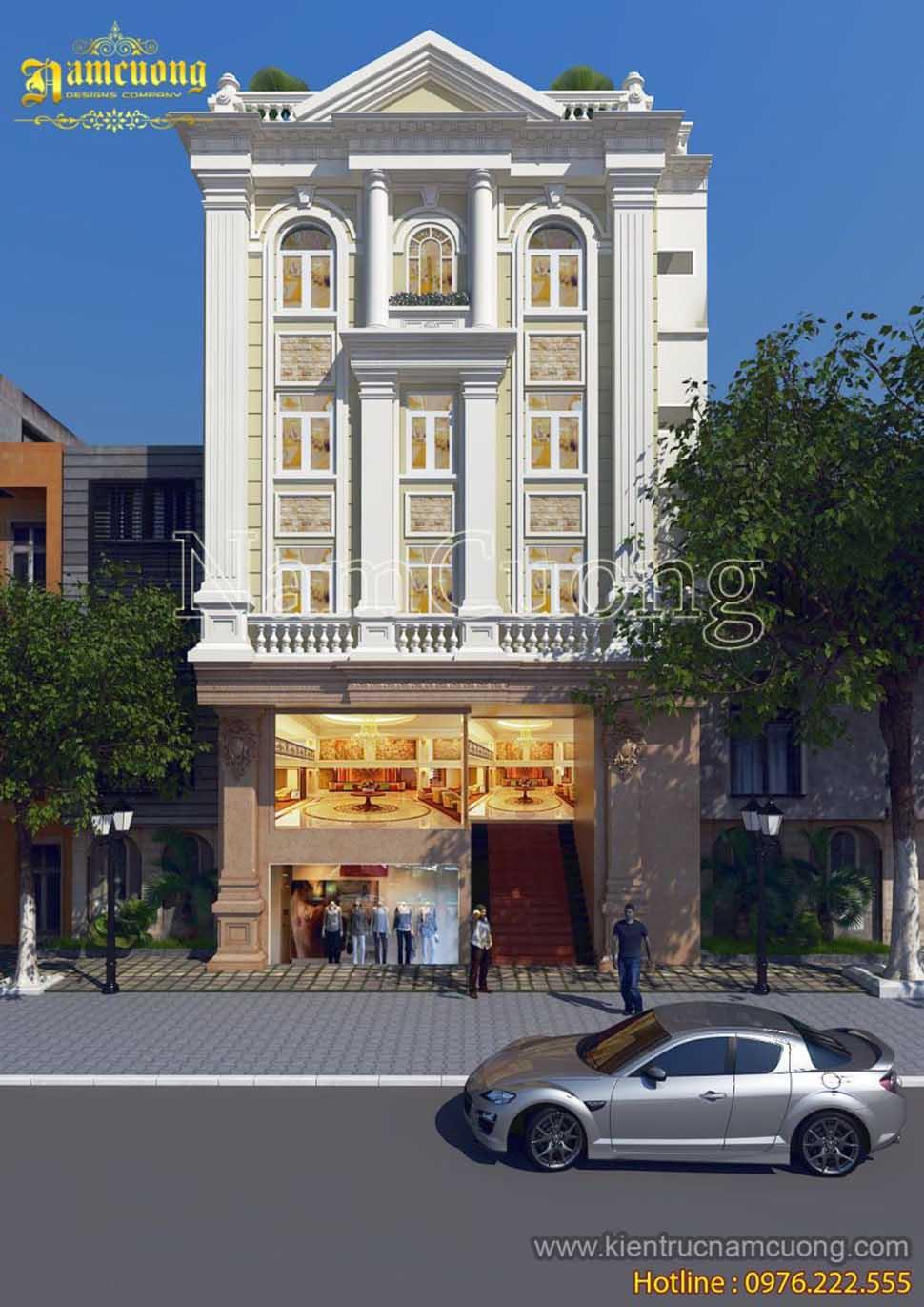 Mẫu thiết kế khách sạn kiến trúc tân cổ điển ấn tượng tại Cát Bà - Hải Phòng - KSCD 009