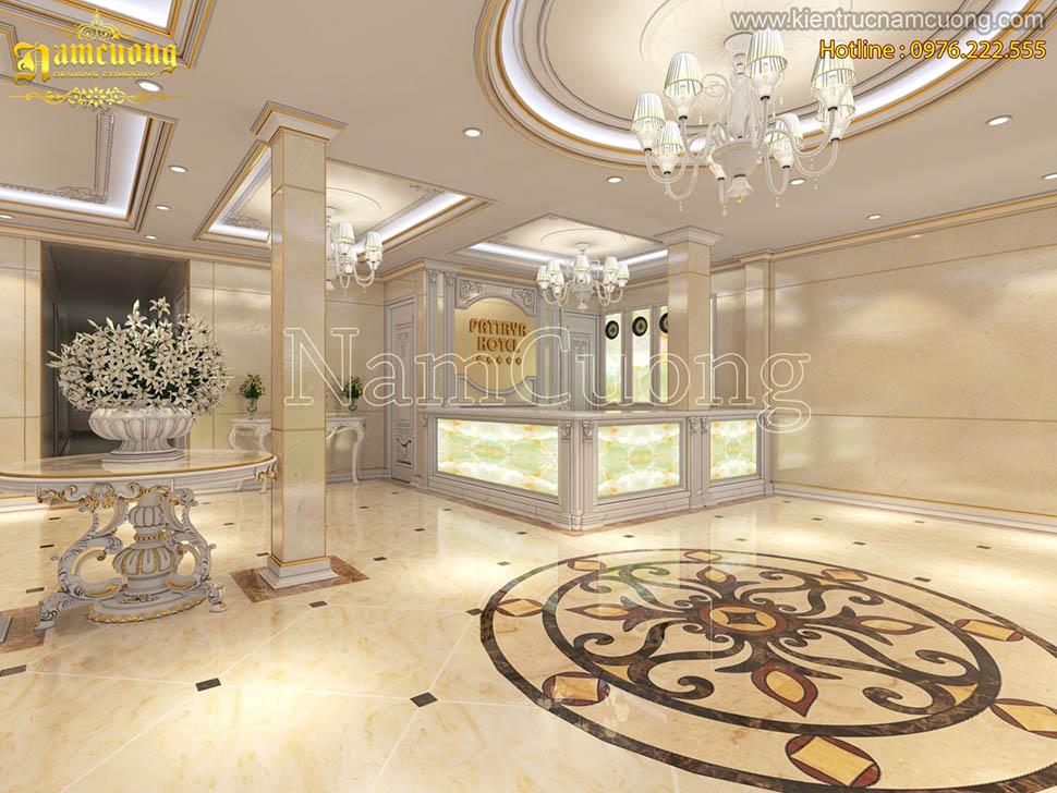 Thiết kế sảnh khách sạn tân cổ điển tại Cát Bà-Hải Phòng