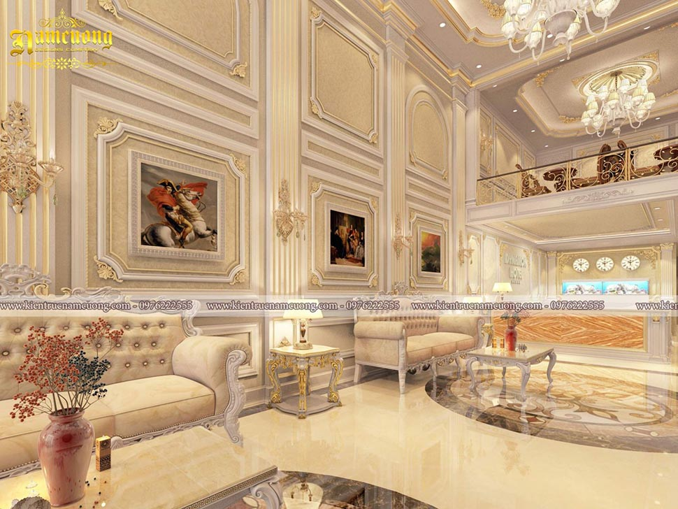 Mẫu nội thất khách sạn tân cổ điển sang trọng tại Sài Gòn - NTKS 001