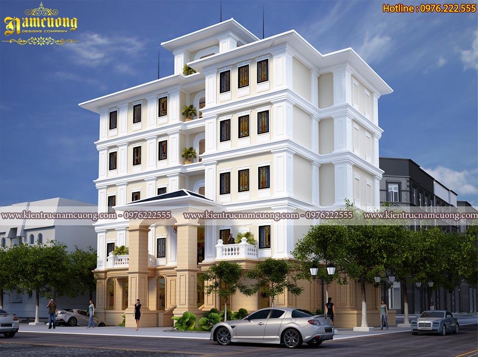 Mẫu thiết kế khách sạn tân cổ điển sang trọng tại Đà Nẵng - KSCD 012