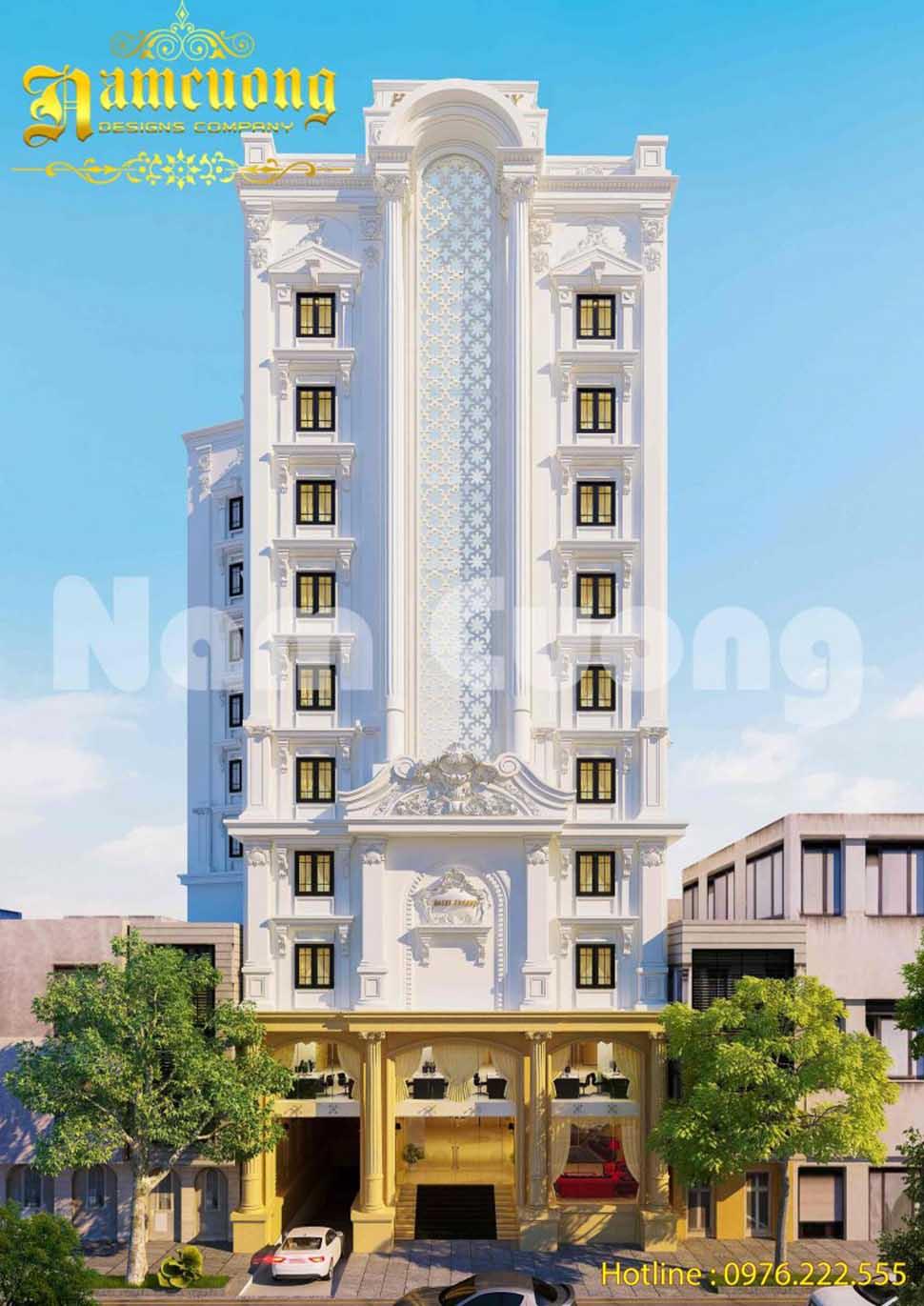 Thiết kế khách sạn tân cổ điển 11 tầng tại Lạng Sơn - KSCD 013