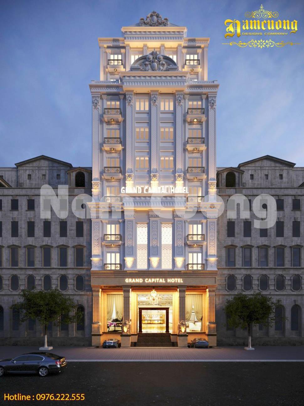 Đẳng cấp 4 sao trong mẫu thiết kế khách sạn cổ điển 11 tầng tại Đà Nẵng