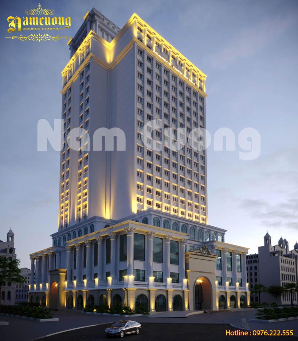 Dự án thiết kế khách sạn tân cổ điển phong cách Châu Âu