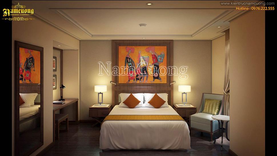 Những mẫu thiết kế phòng ngủ dành cho nội thất khách sạn - NTKS 002