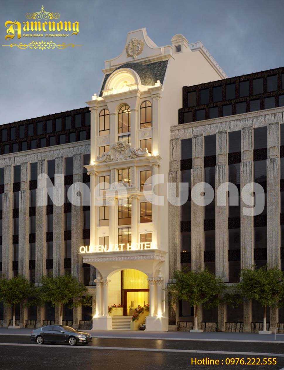 Hoàn thành mẫu thiết kế khách sạn tân cổ điển 3 sao đẳng cấp KSCD-014