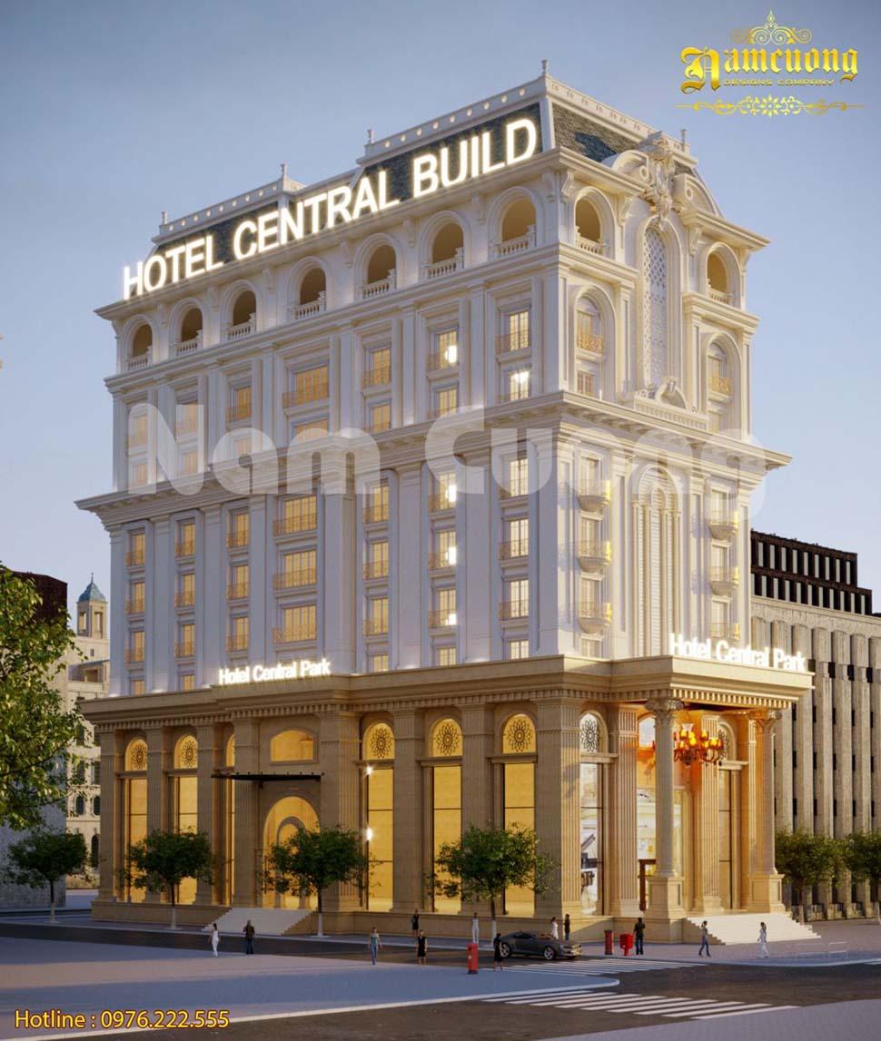 Thiết kế khách sạn tân cổ điển 3 sao đẳng cấp tại Sài Gòn