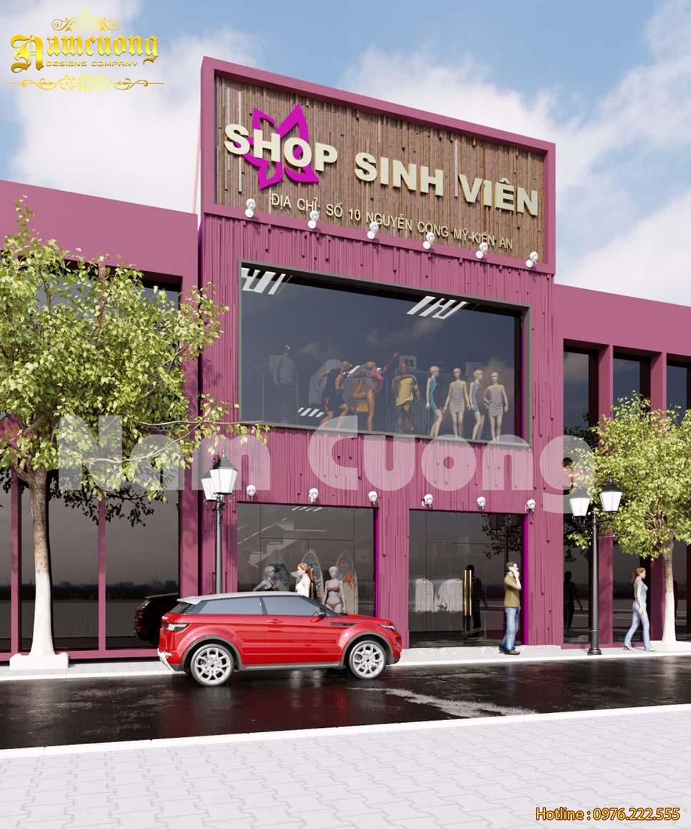 Thiết kế shop thời trang với phong cách hiện đại, năng động