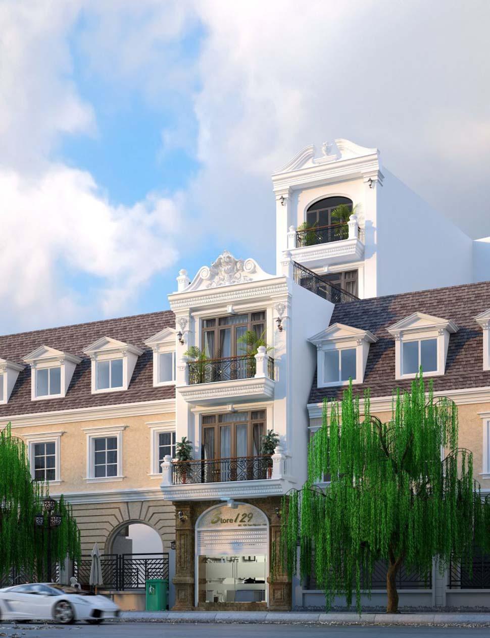 Mẫu thiết kế nhà phố 5 tầng vừa ở vừa kinh doanh siêu đẹp