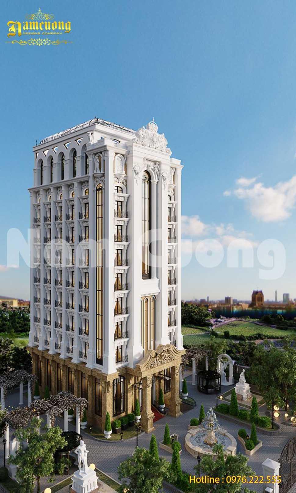 Thiết kế kiến trúc khách sạn tân cổ điển tại Quảng Ninh