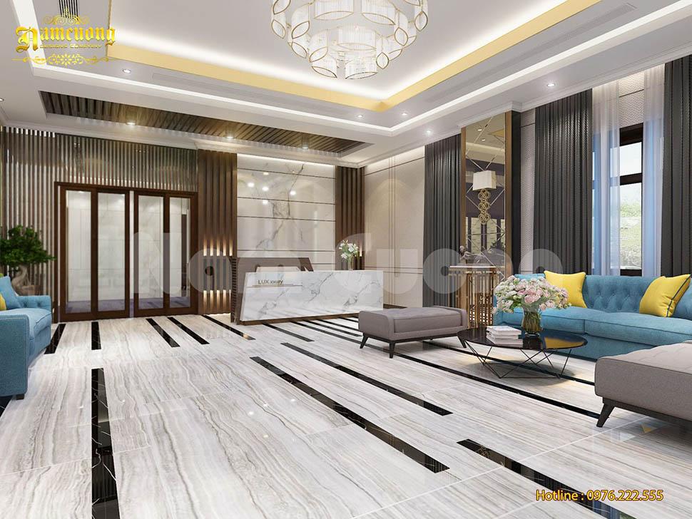 Nội thất đẳng cấp của mẫu thiết kế khách sạn tân cổ điển