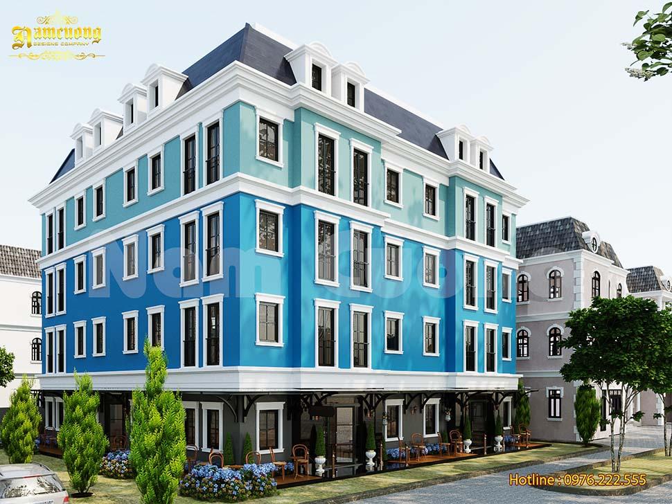 Thiết kế khách sạn tân cổ điển 4 tầng độc đáo
