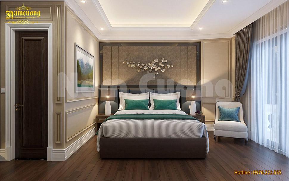 Thiết kế nội thất phòng ngủ khách sạn tân cổ điển
