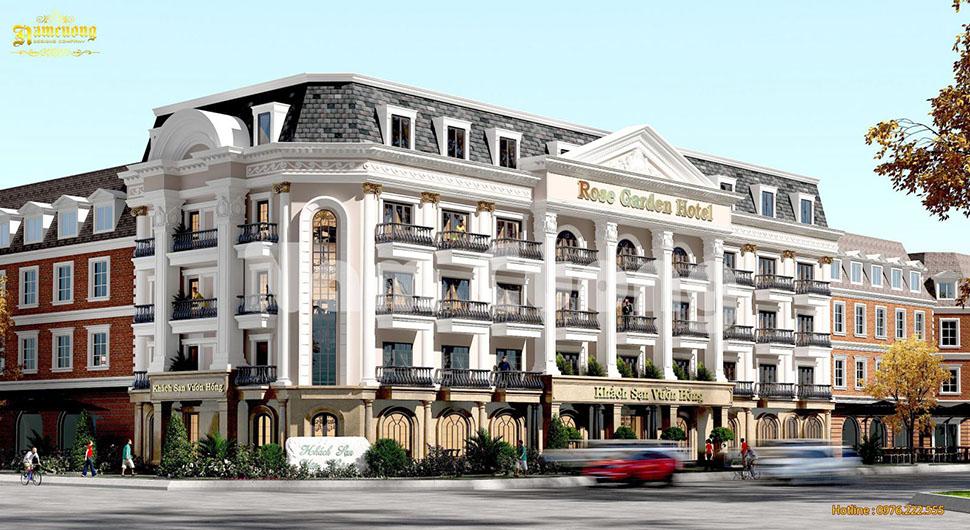 Thiết kế khách sạn tân cổ điển 2 mặt tiền tại Quảng Ninh