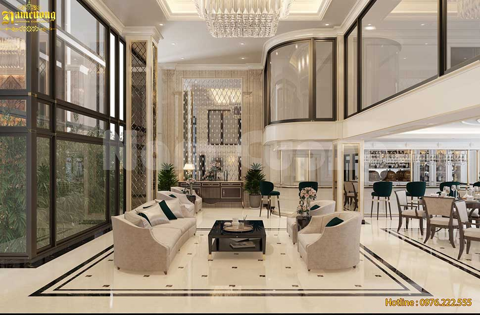 Nội thất  khách sạn cao cấp phong cách tân cổ điển