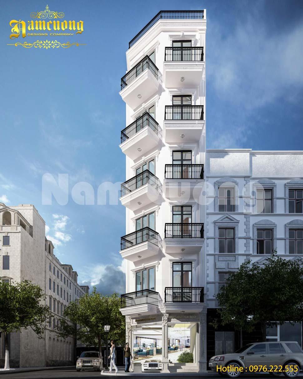 Mẫu thiết kế tòa nhà chung cư cao cấp tại Sài Gòn