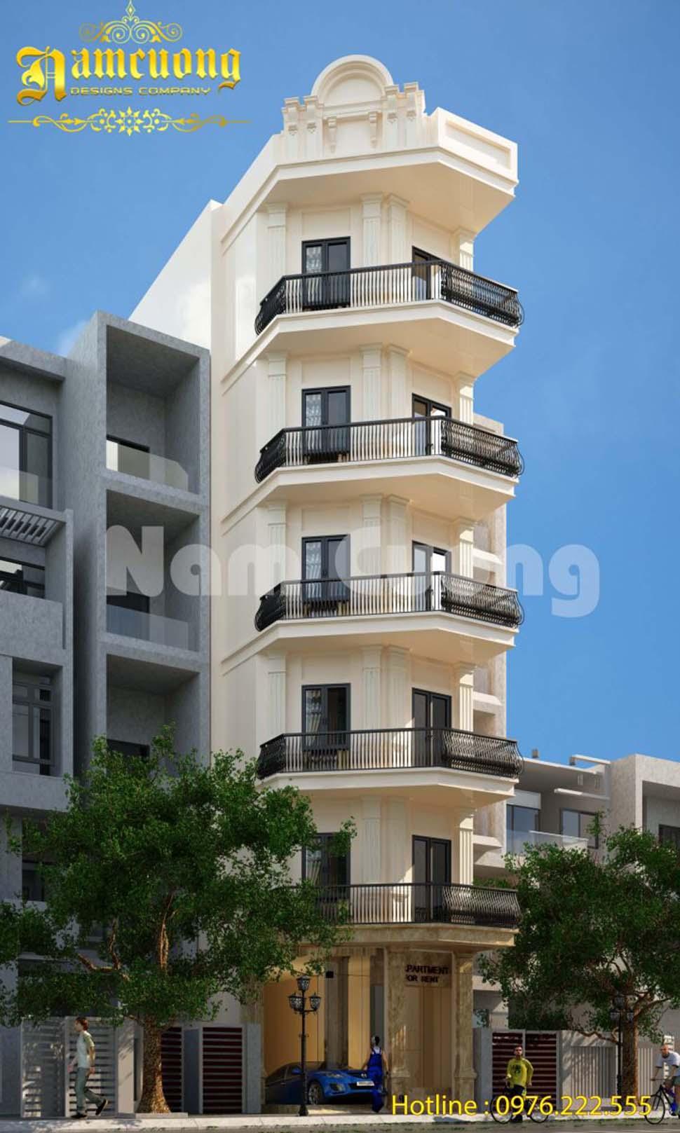 Mẫu thiết kế căn hộ cho thuê tại Sài Gòn - TNCD 002