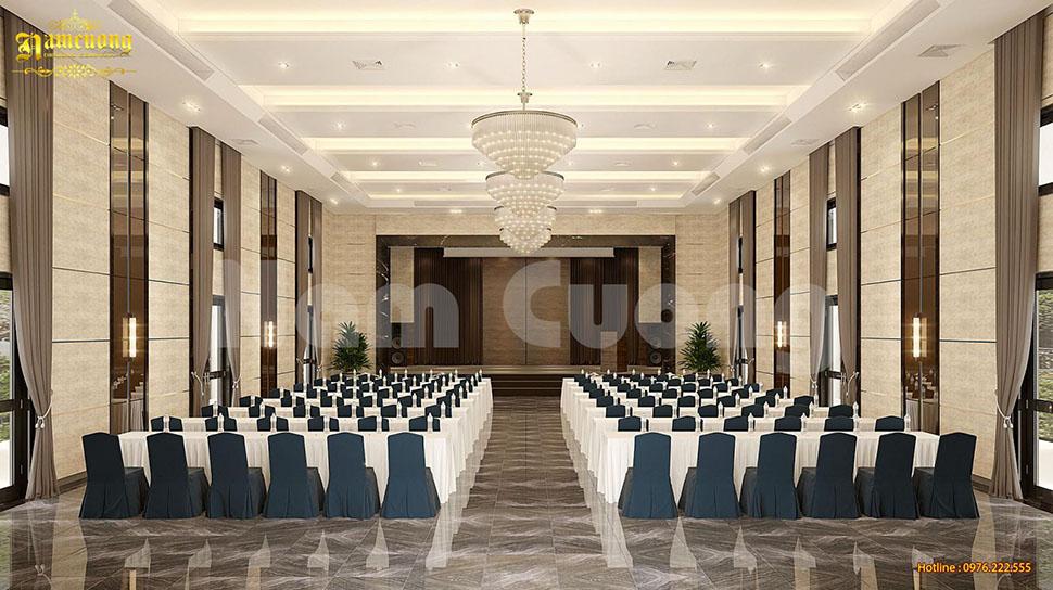 Thiết kế nội thất phòng hội nghị, hội thảo