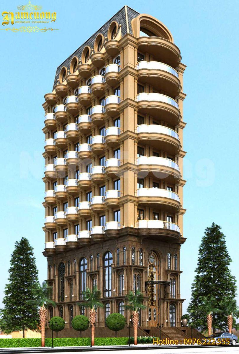Mẫu thiết kế khách sạn mặt tiền 10m đón đầu xu hướng