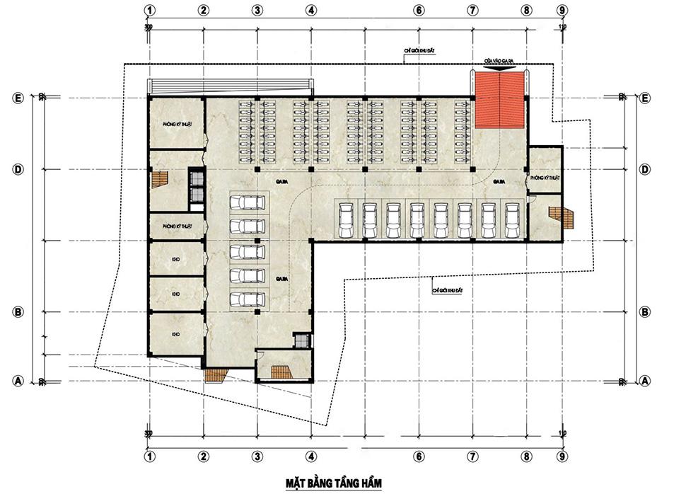Bản vẽ thi công nội thất nhà ở kết hợp kinh doanh khách sạn và nhà hàng