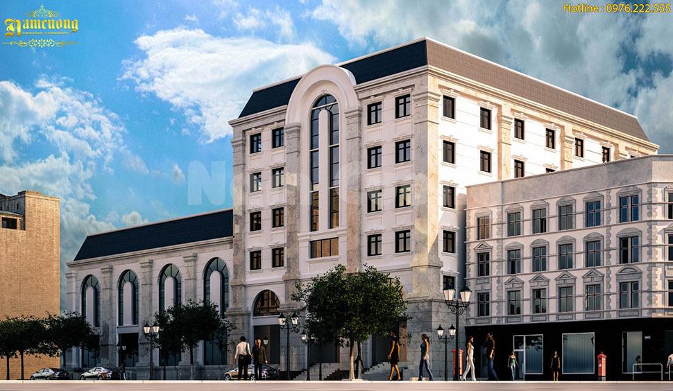 Mẫu thiết kế tổ hợp trụ sở làm việc, kinh doanh 5 tầng đẳng cấp tại Sài Gòn