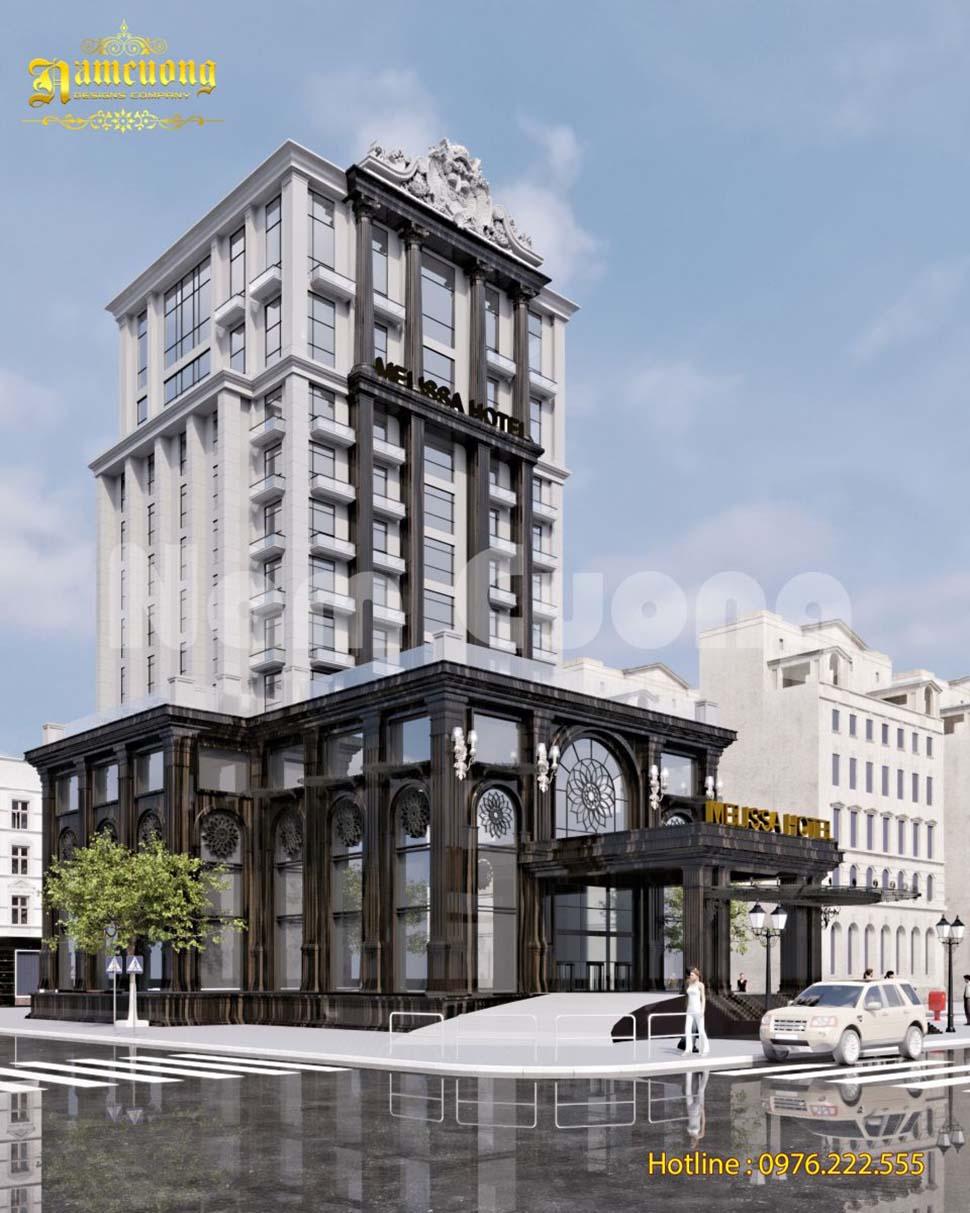 Hoàn thành thiết kế khách sạn 14 tầng tân cổ điển