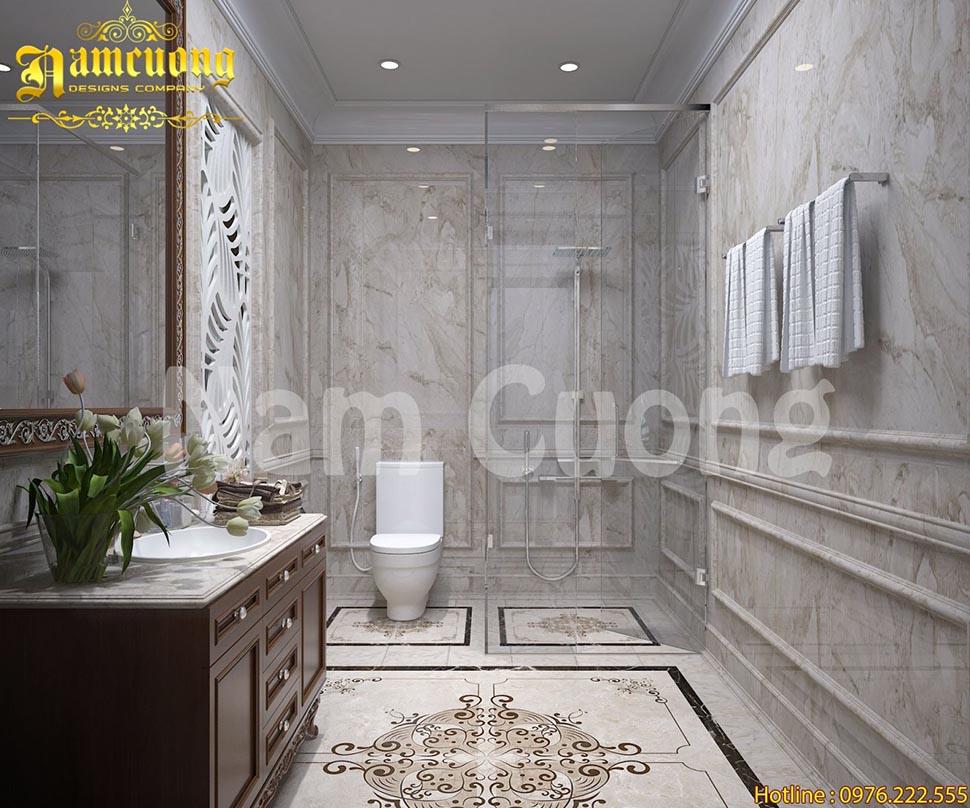 Mẫu thiết kế phòng tắm sang trọng cho biệt thự cổ điển tại Hà Nội - NTWCCD 005