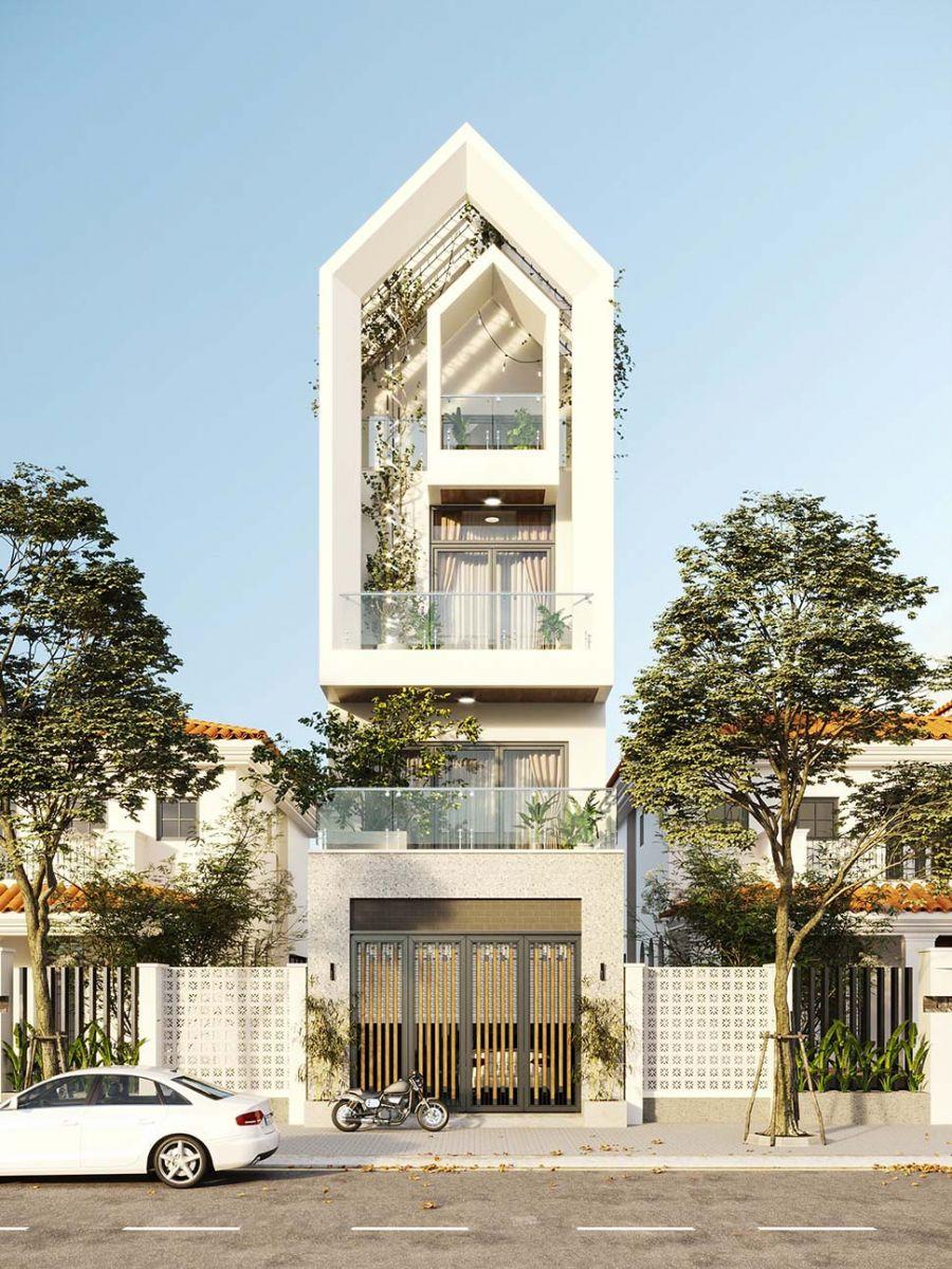 Mẫu thiết kế nhà phố 5x20m hiện đại