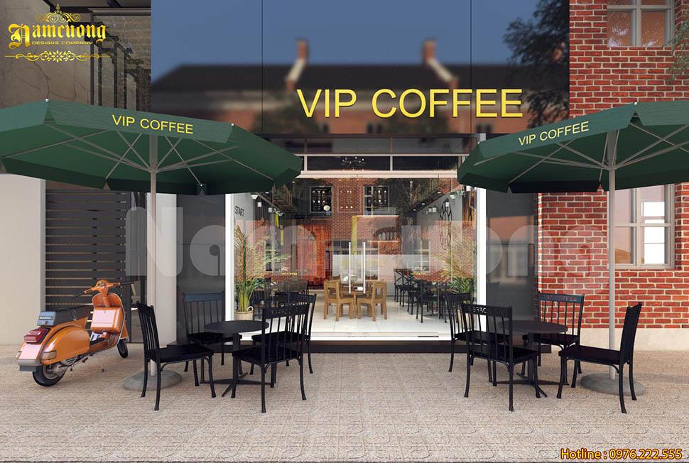 Thêm một mẫu thiết kế cafe VIP trong chuỗi cửa hàng cafe của CĐT anh Hưng