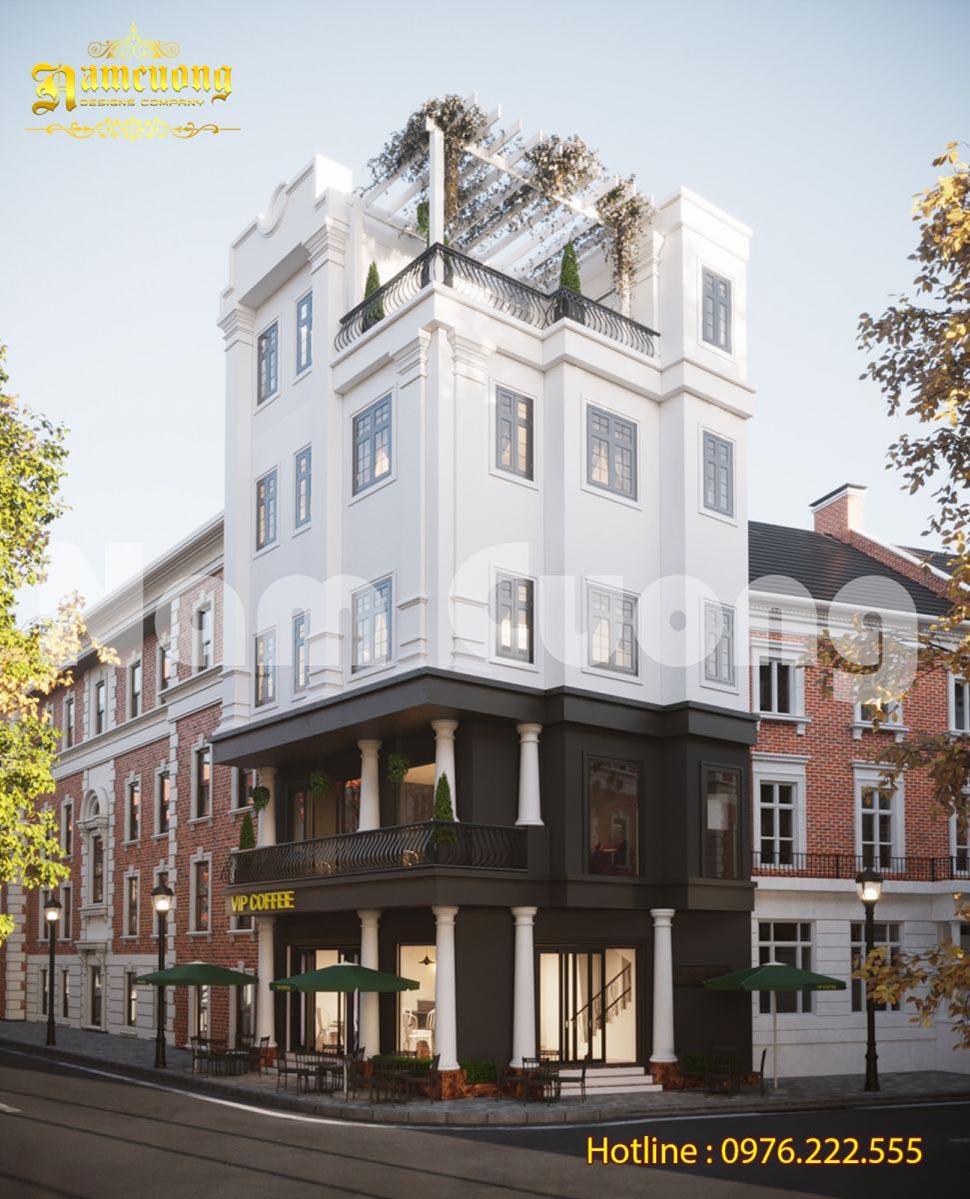 Thiết kế nhà đẹp kết hợp ở và kinh doanh cafe