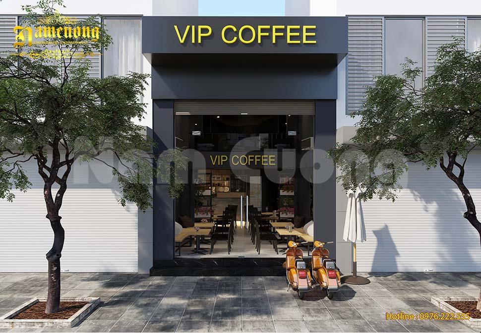 Mẫu thiết kế quán cafe nhà ống đẹp