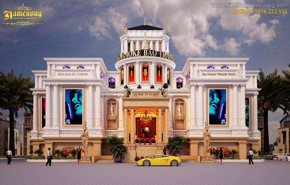Bản vẽ 2d karaoke Bảo Trang - Tổ hợp karaoke giải trí hoành tráng tại Cẩm Phả (Quảng Ninh)