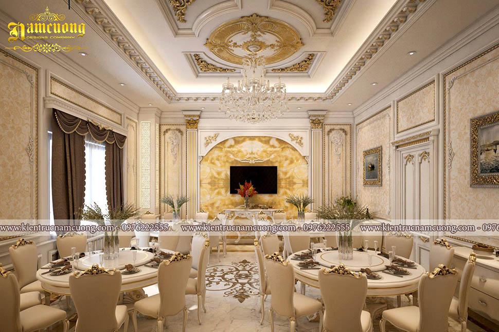 Những mẫu thiết kế phòng ăn đẹp cho khách sạn cổ điển - NTKS 003