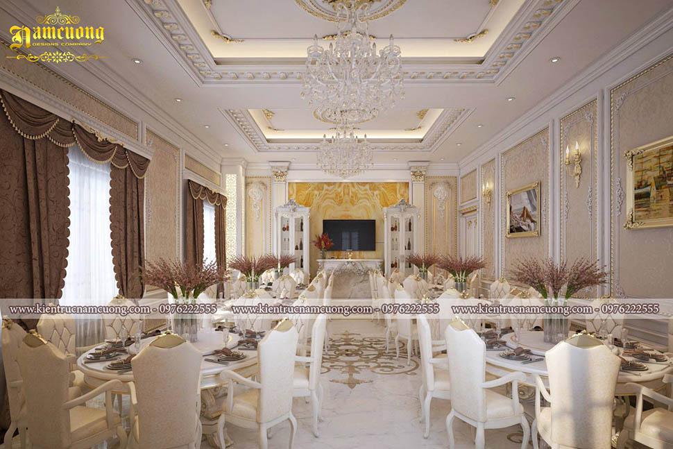 Những mẫu nội thất phòng tiệc khách sạn đẹp sang trọng