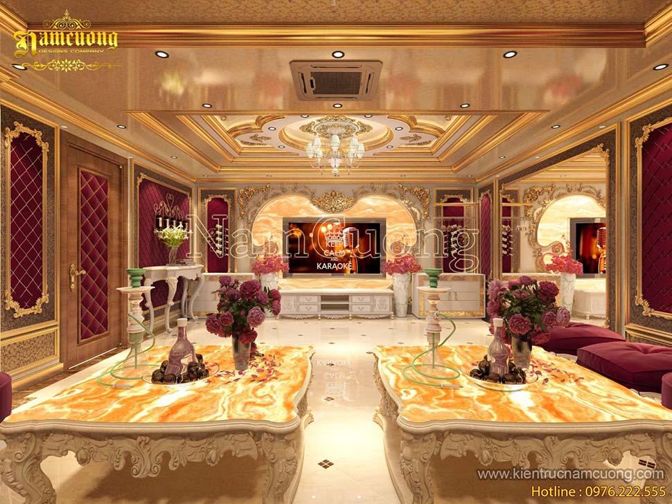 Mẫu thiết kế nội thất phòng karaoke cổ điển đẹp tại Quảng Ninh - PKRCD  013