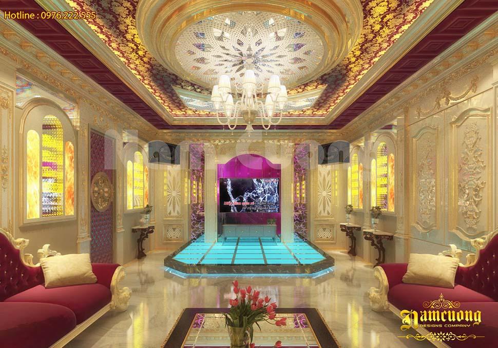 Thiết kế nội thất phòng Karaoke tân cổ điển tại Hải Phòng - PKRCD 014