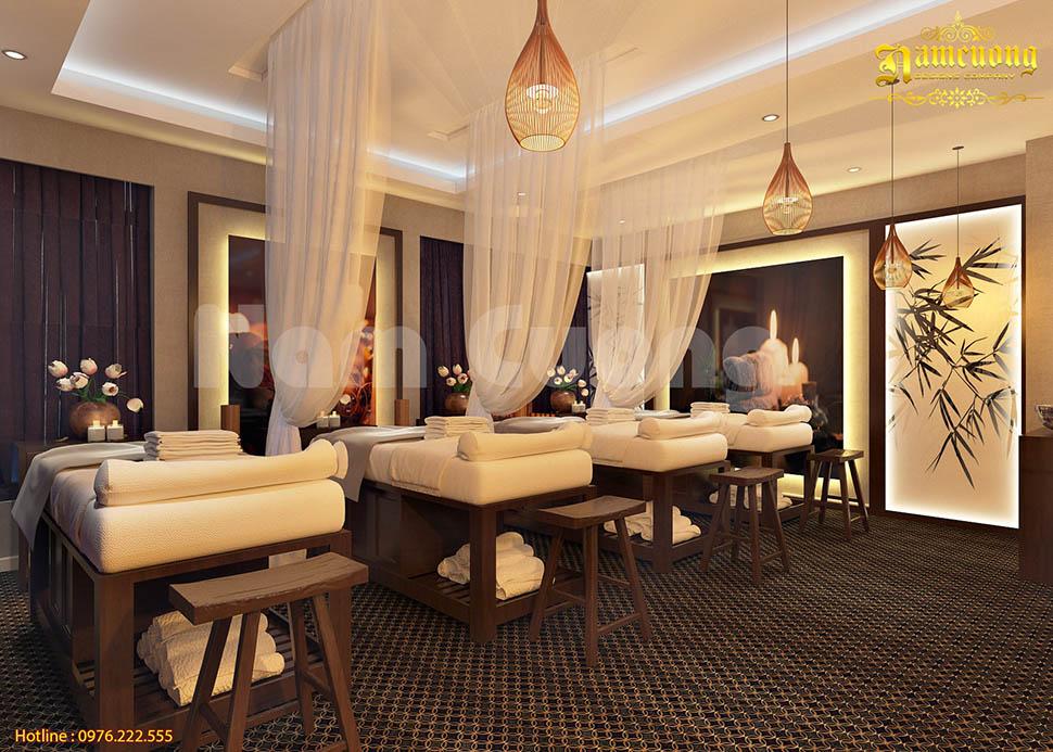 Ấn tượng mẫu thiết kế nội thất spa kiểu Nhật