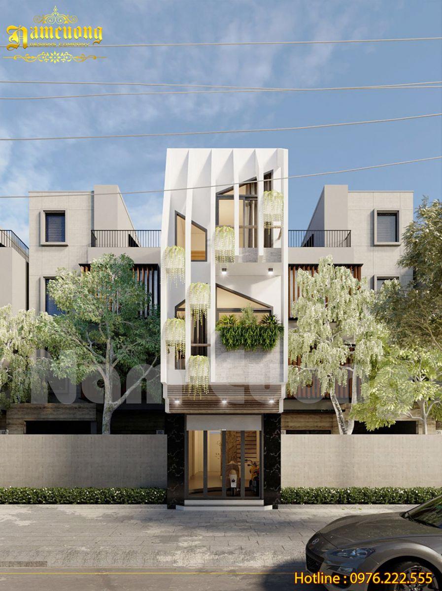 Mẫu nhà phố 3 tầng 5x16m đẹp hiện đại