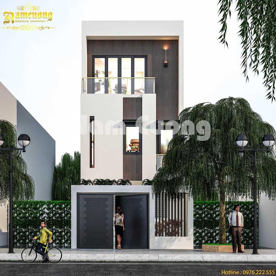 Mẫu thiết kế nhà phố 3 tầng hiện đại 50m2 tại Hà Nội