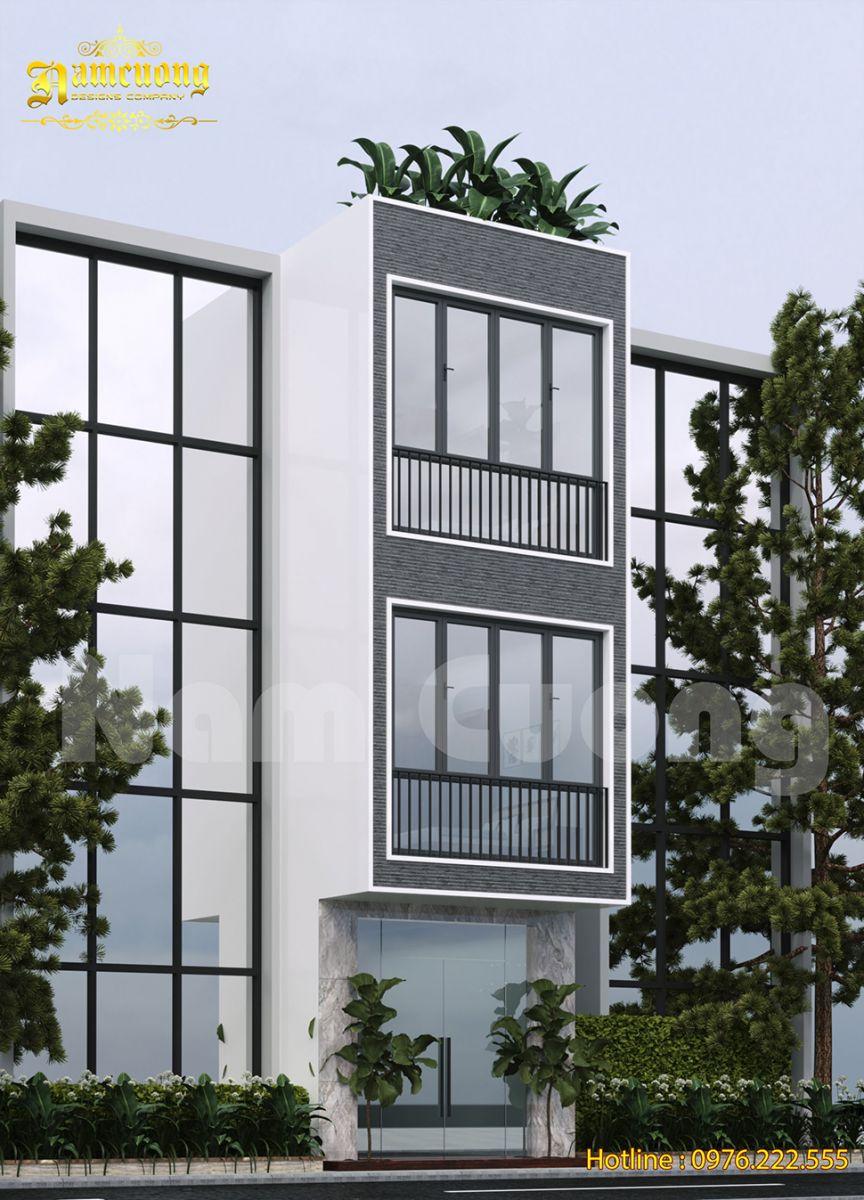 Thiết kế nhà phố 3 tầng không ban công