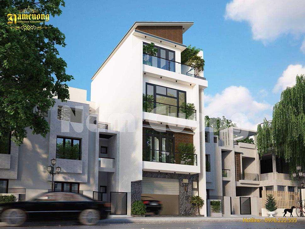 Mẫu thiết kế nhà phố 4 tầng mặt tiền 6m
