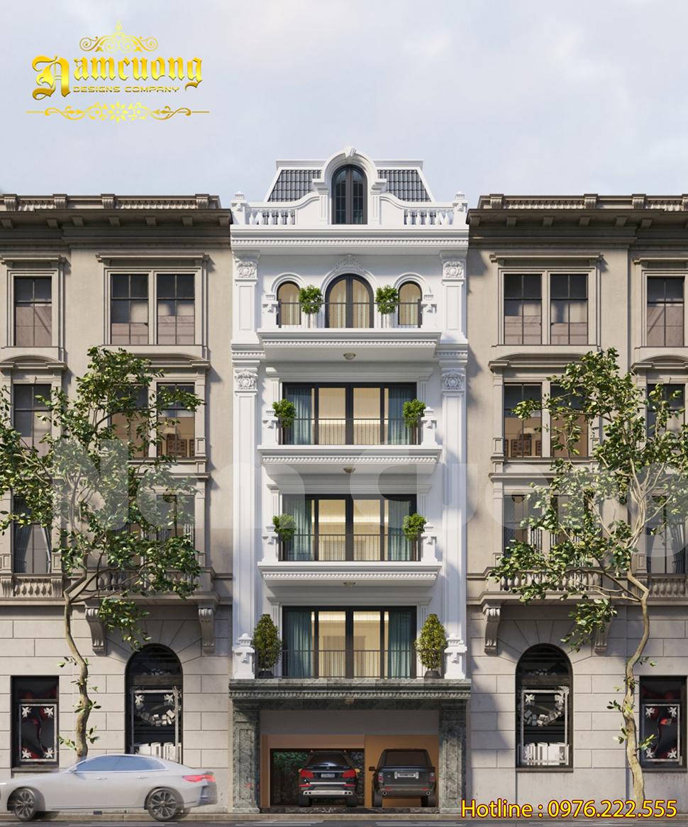 Mẫu thiết kế nhà phố 5 tầng 8x20m đẹp vạn người mê