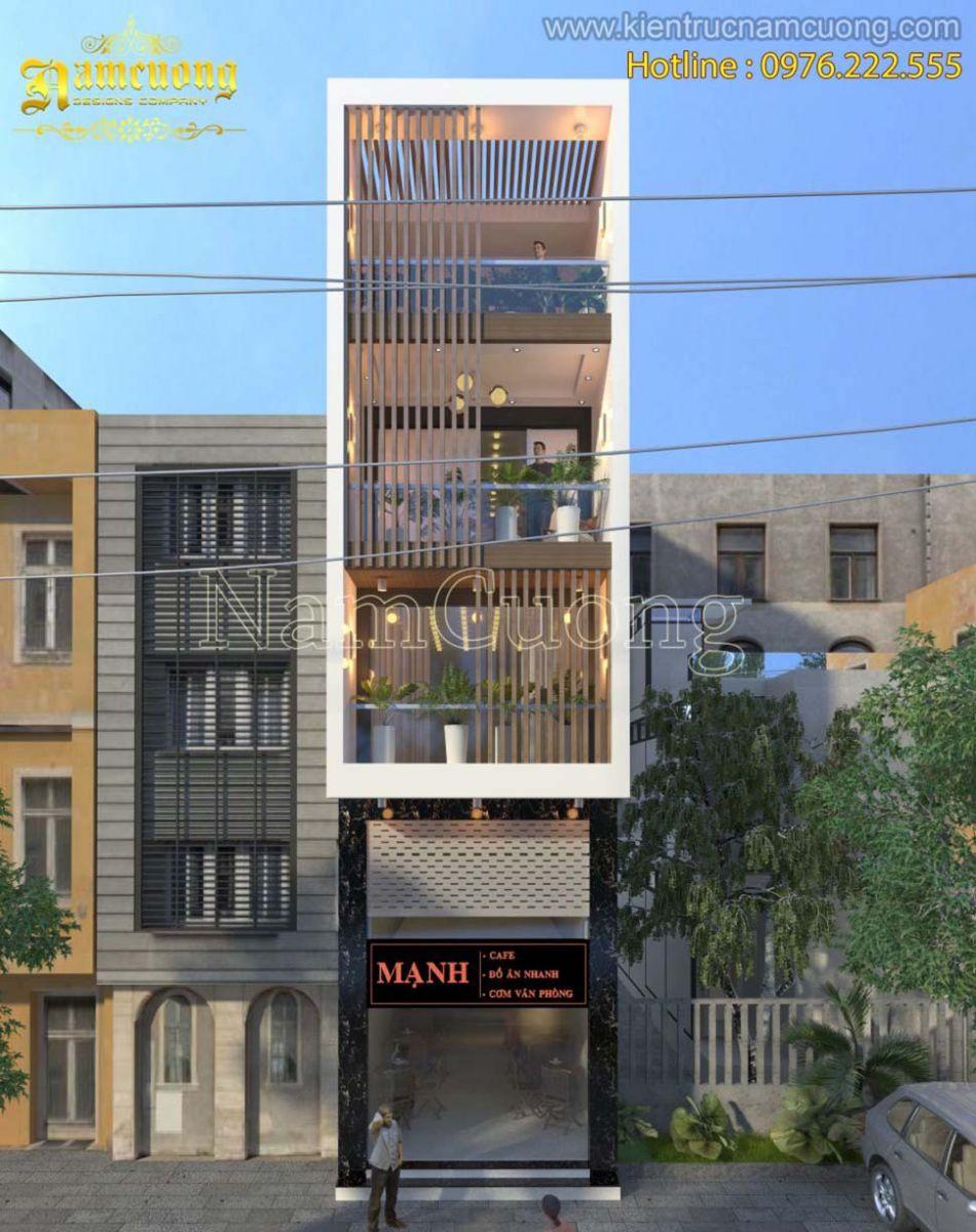 Thiết kế nhà phố hiện đại 4 tầng đẹp