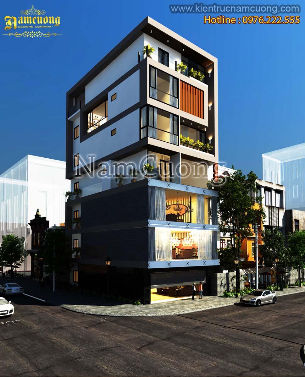 Mẫu thiết kế nhà phố kết hợp kinh doanh hiện đại tại Hà Nội