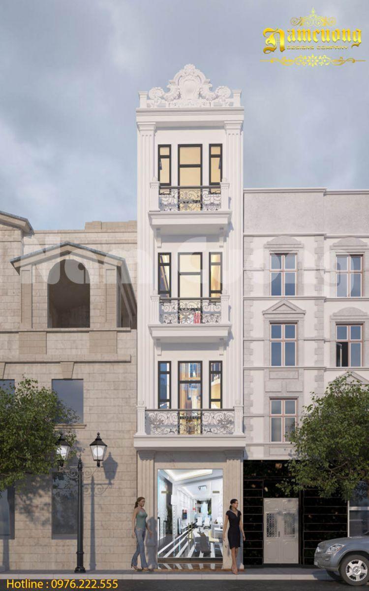 Giải pháp thiết kế nhà phố tân cổ điển 4x15m
