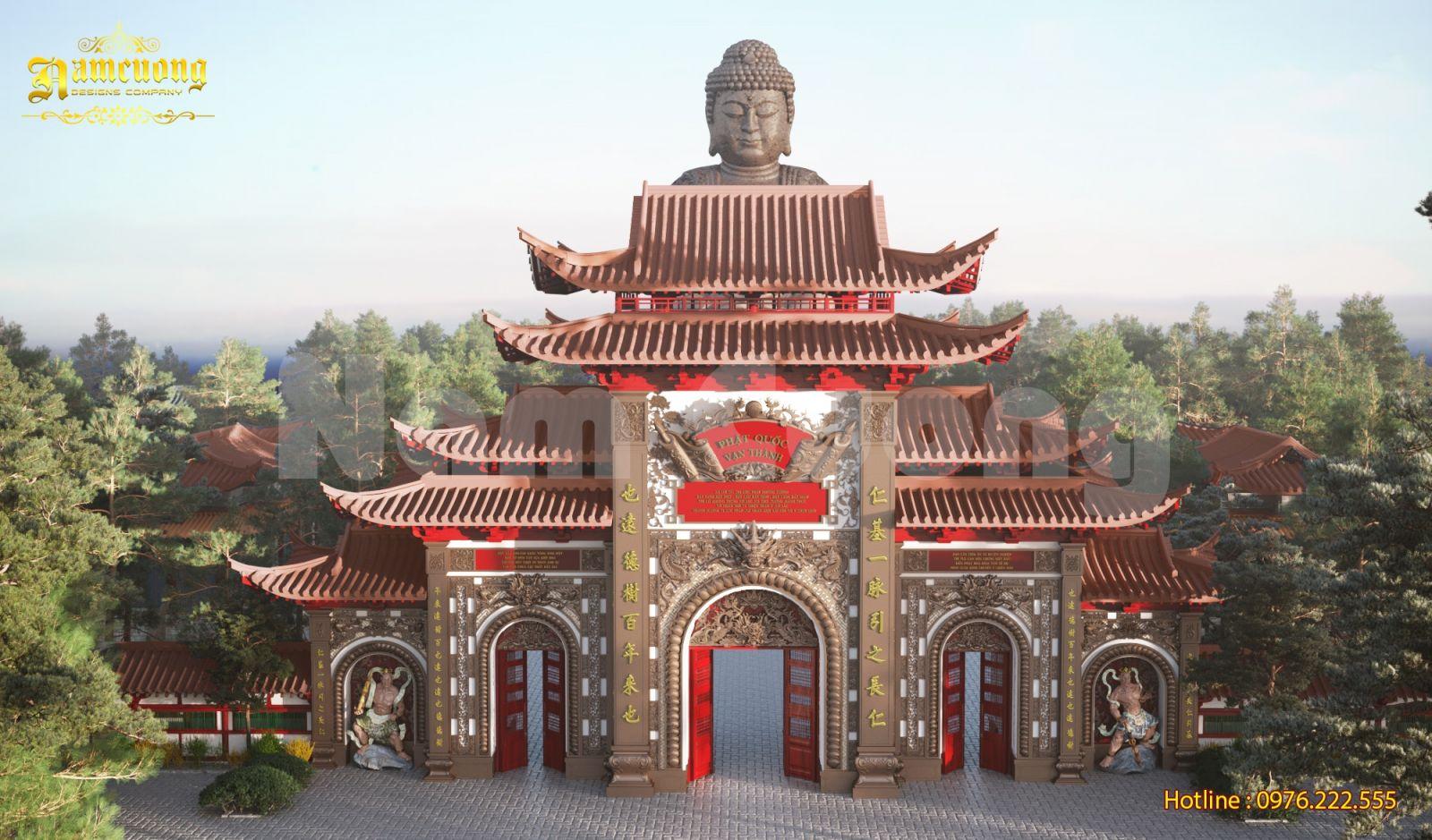 Thiết kế cổng chùa và tháp chùa tại Bình Phước