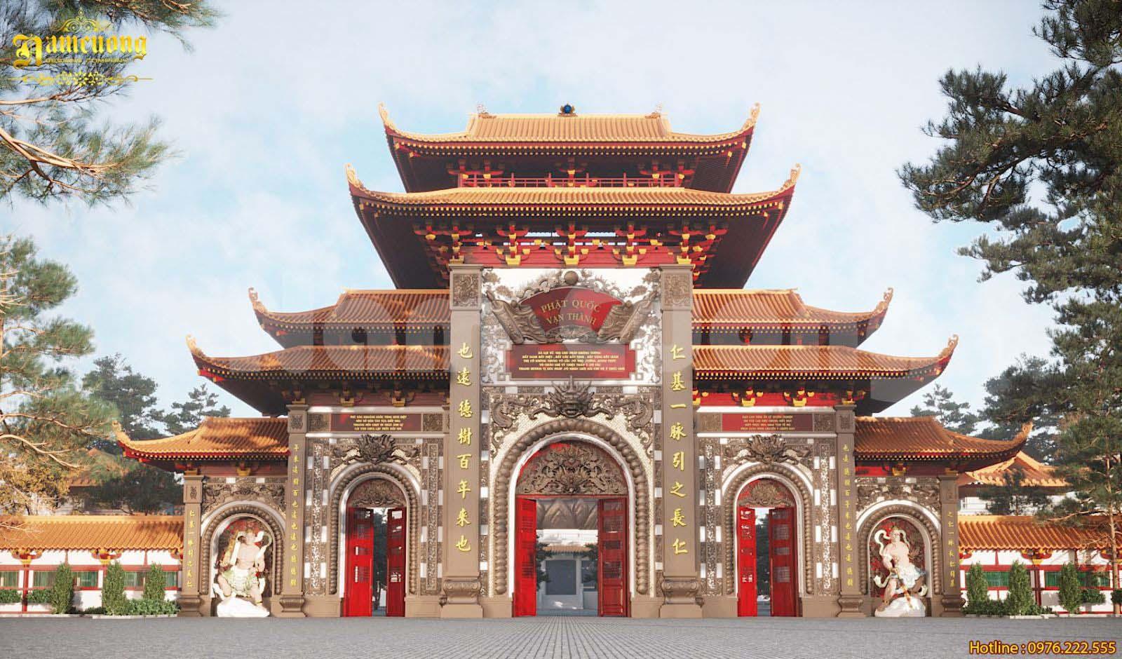 Thiết kế chùa Phật Quốc Vạn Thành