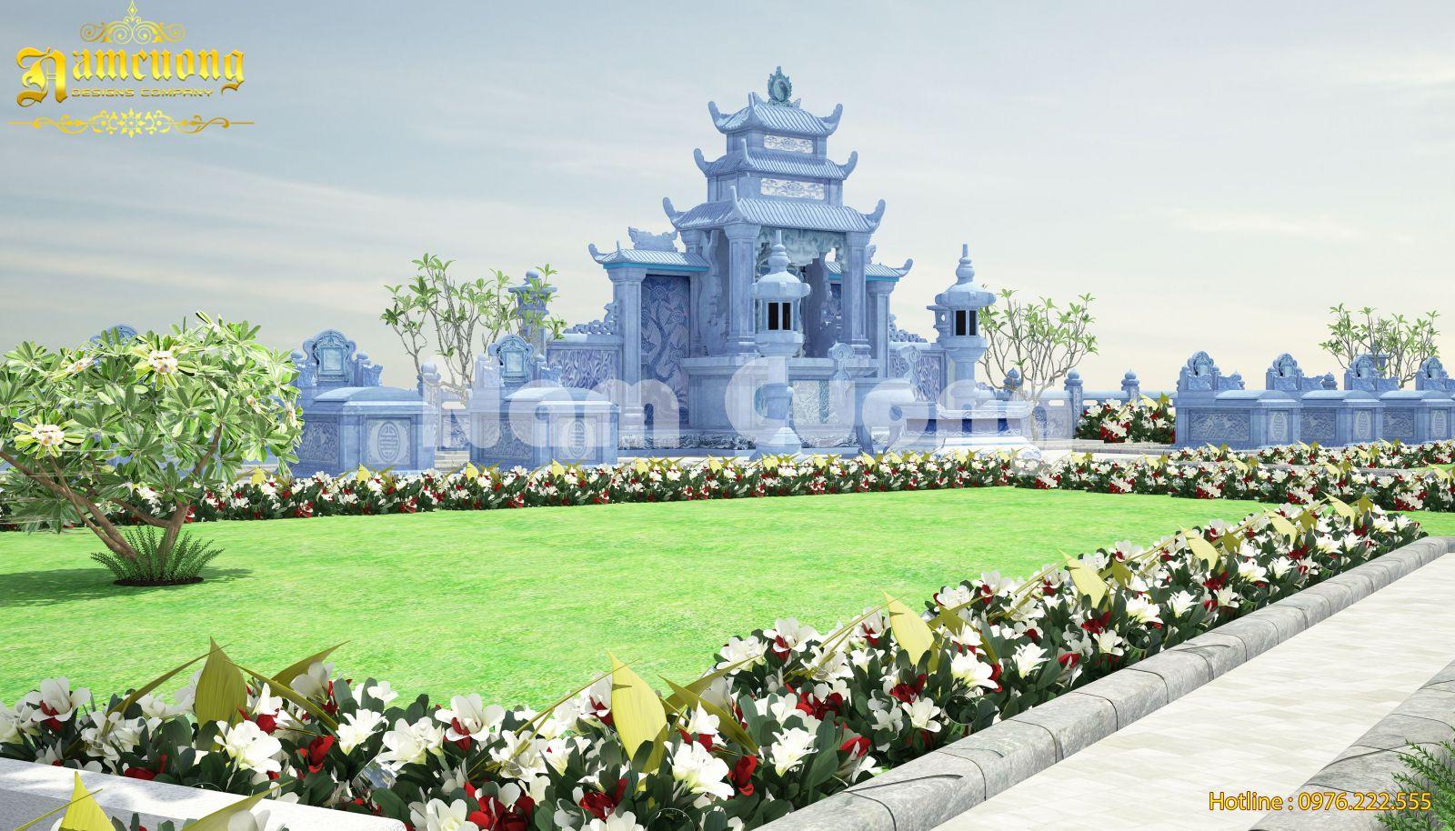 Thiết kế khu lăng mộ gia đình đẹp tại Hải Phòng - KLM 001