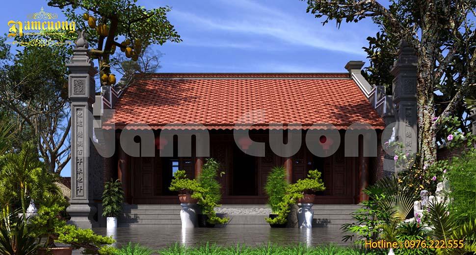 Thiết kế nhà thờ họ truyền thống đẹp tại Quảng Bình