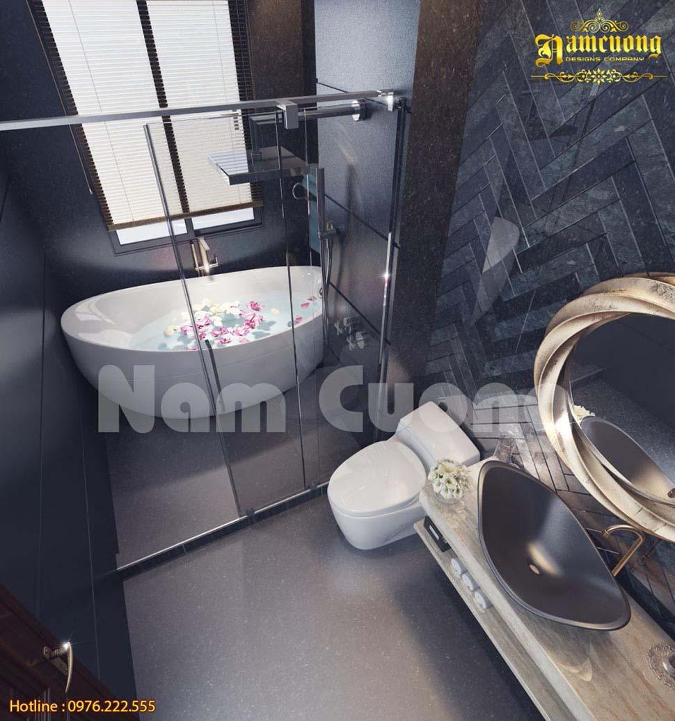 Các mẫu thiết kế nhà vệ sinh có bồn tắm đẹp